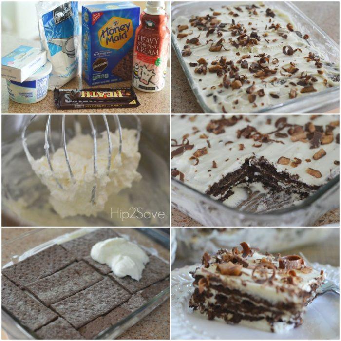 Try This Yummy & Easy No-Bake Chocolate Cake Using Chocolate Graham Crackers Hip2Save.com