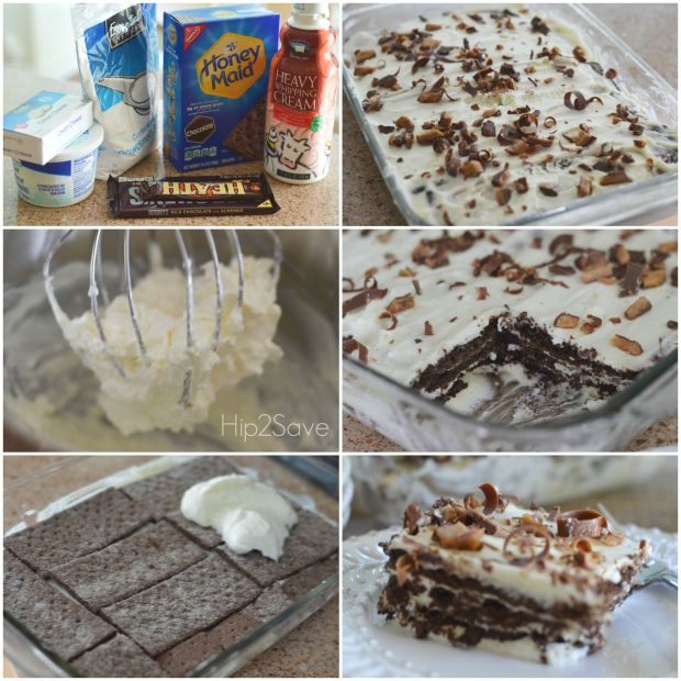 Try This Yummy & Easy No-Bake Chocolate Cake Using Chocolate Graham Crackers Hip2Save.com