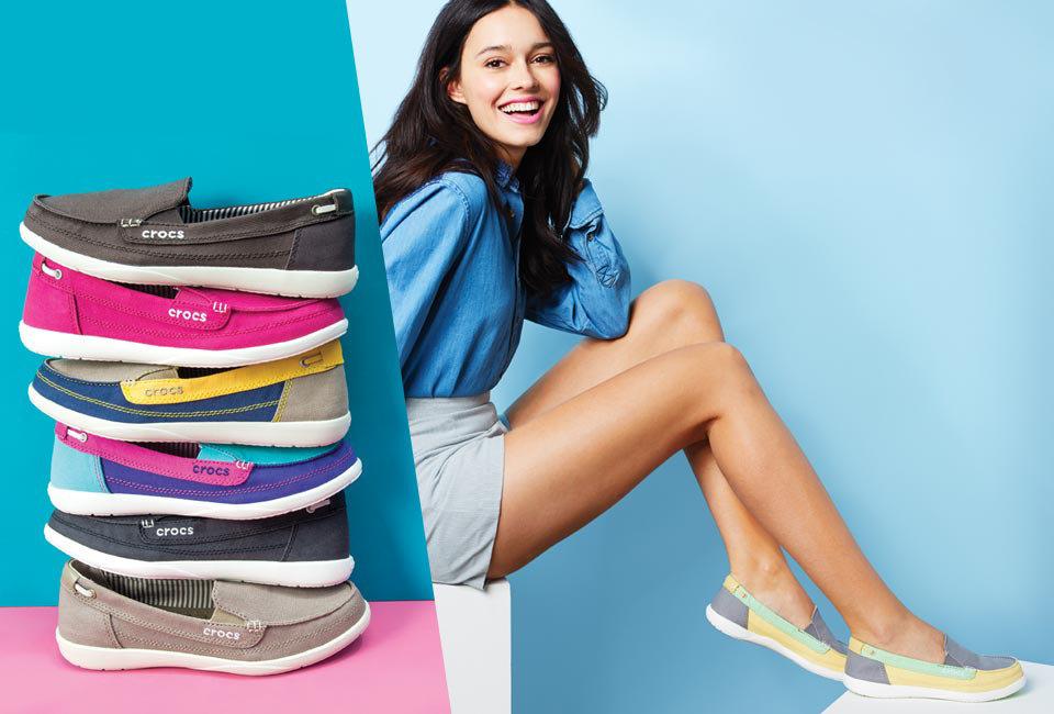 Crocs.com: Women's Walu Canvas Loafers