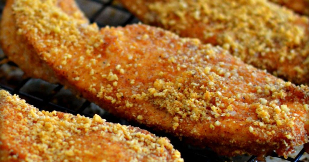 baked almond chicken fingers recipe