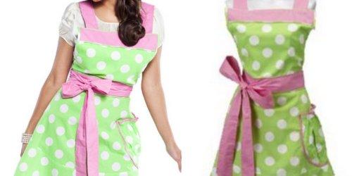 Flirty Aprons: Women's Betty Lime Polka-Dot Apron ONLY $9.99 Shipped (Regularly $29.95)