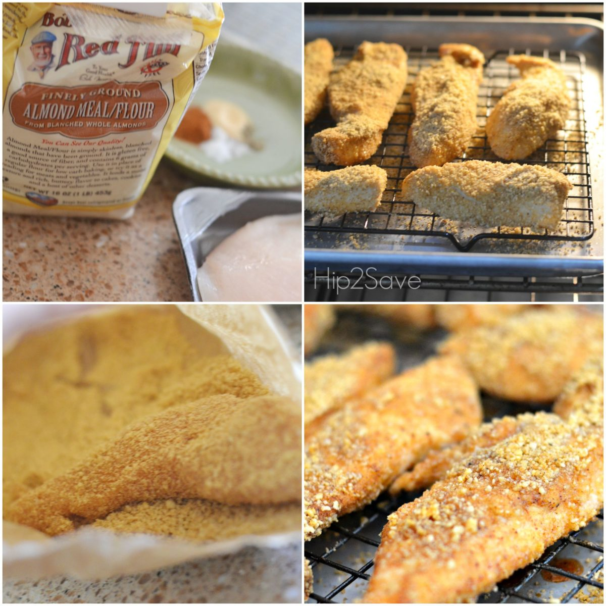 Easy Gluten-Free Meal Idea Almond Chicken Tenders Hip2Save.com