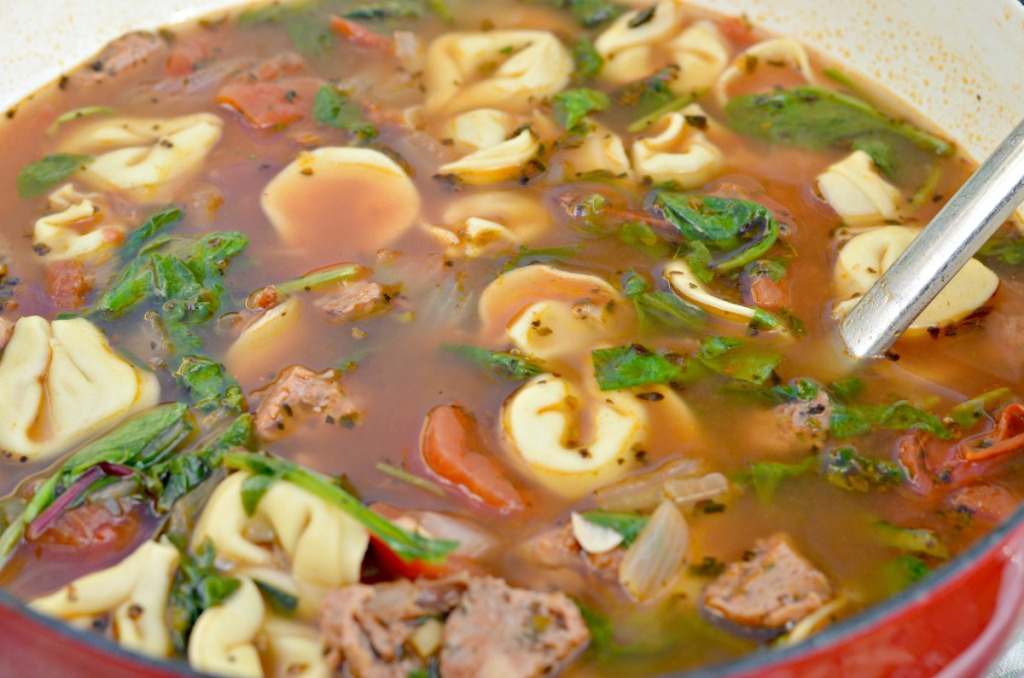 easy sausage tortellini soup
