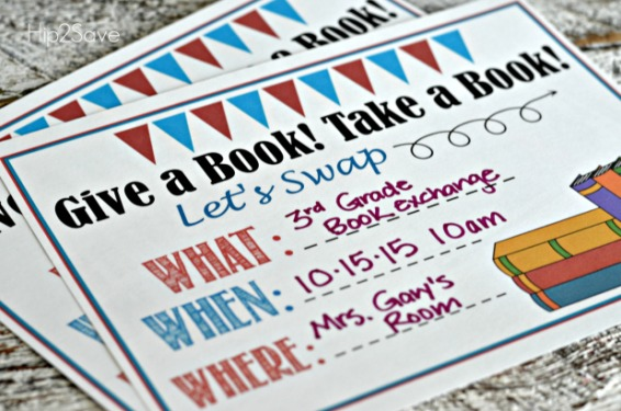 Give a Book! Get a Book! Book Swap Invitation Hip2Save.com