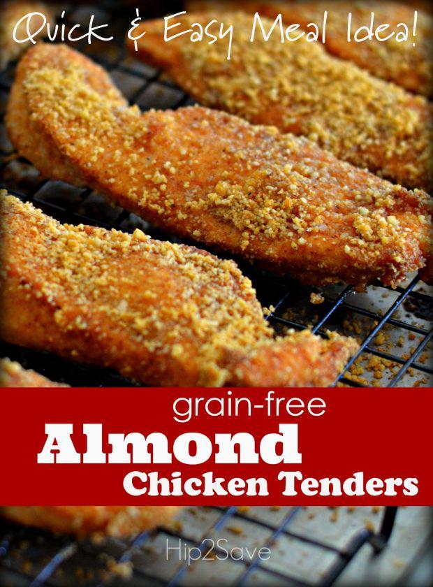 Grain-Free Almond Chicken Tenders Hip2Save.com