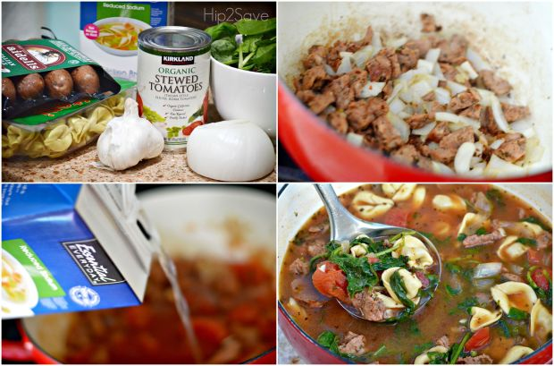 Healthy & Delicious Tortellini Soup Hip2Save.com
