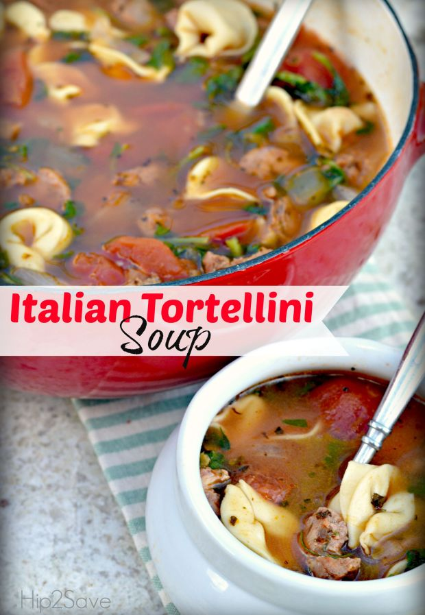 Italian Tortellini Soup by Hip2Save