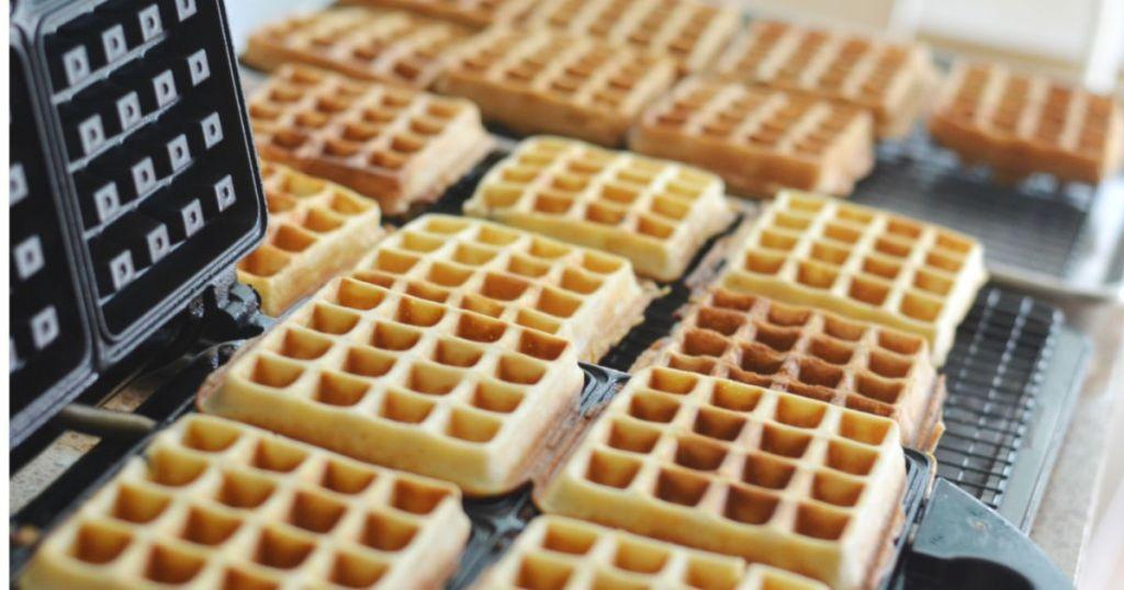 making waffles hip2save