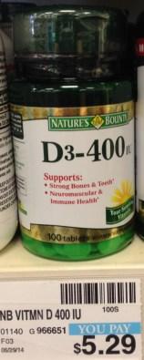 Nature's Bounty Viitamin D CVS