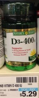 Nature's Bounty Vitamin D CVS