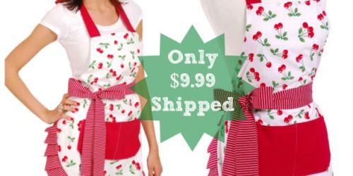 Flirty Aprons: Women's Original Very Cherry Apron ONLY $9.99 Shipped (Regularly $34.95)