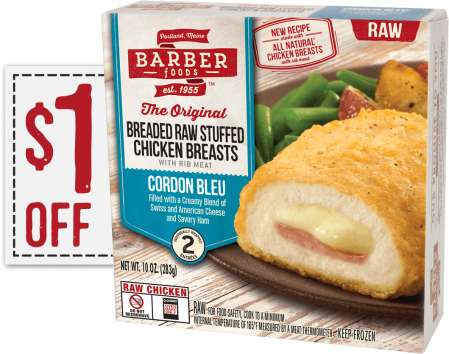Rare 12 Barber Foods Stuffed Chicken Breasts Coupon Hip2save