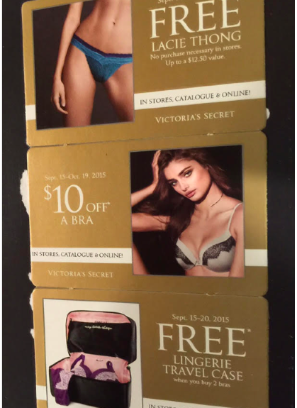 photo relating to Victoria Secret 10 Off Bra Printable Coupon identify Victorias Magic formula: Probable Free of charge Lacie Thong, $10 Off Bra