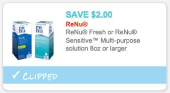 ReNu Fresh or ReNu Sensitive Multi-Purpose Solution coupon