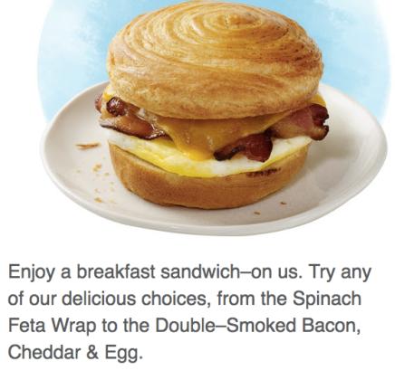 Starbucks Breakfast Sandwich