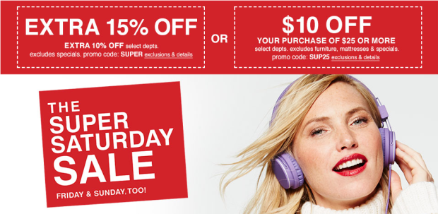 91e7ea865 Macy's: $10 Off $25 AND 15% Off WOW! Passes Valid In-Store (Includes ...