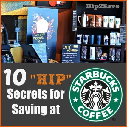 Hip Secrets for saving at Starbucks