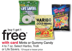 buy 1 get 1 free candy at Walgreens