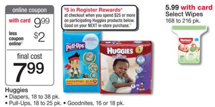 Huggies Walgreens Deals
