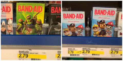 PAw Patrol & TMNT Band-Aids