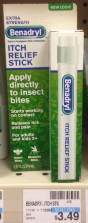 Benadryl Anti-Itch Stick CVS