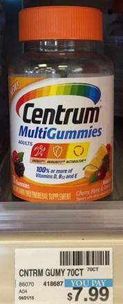 Centrum Mullti Gummies CVS