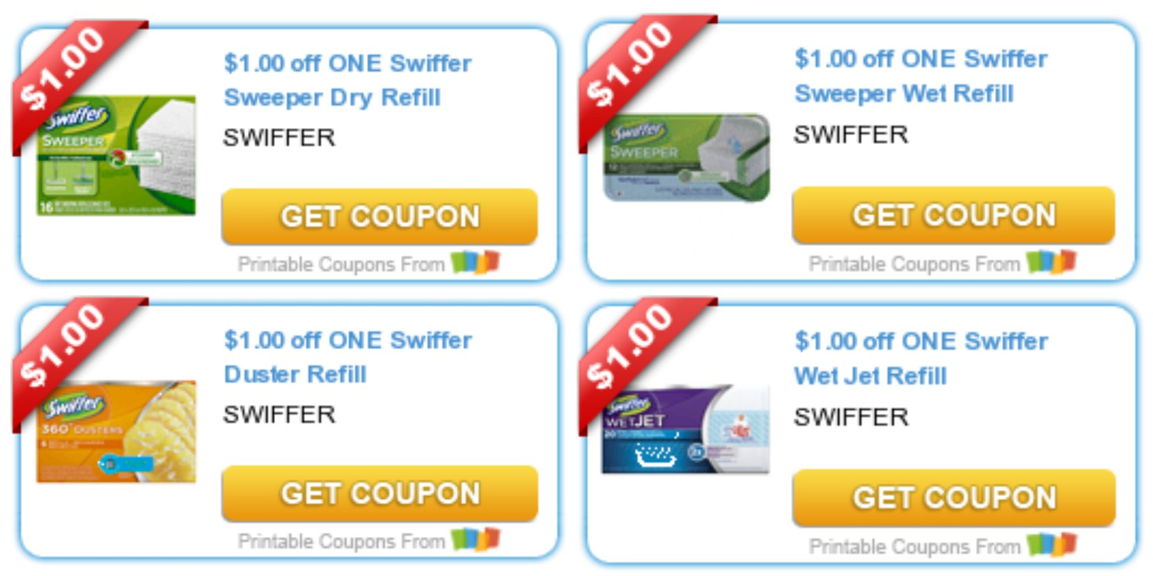 graphic regarding Swiffer Printable Coupons titled 4 *Refreshing* Swiffer Discount codes \u003d Improved Than Free of charge Goods at