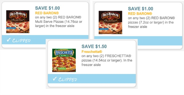 3 New Pizza Coupons For Red Baron Freschetta Red Baron Pizza
