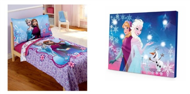 Disney Frozen Bedding and light up Picture