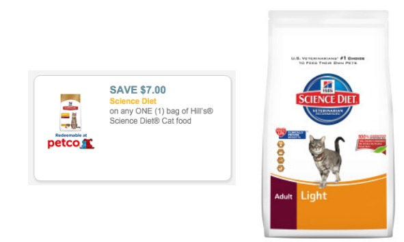 Hill's Science Diet Cat Food coupon