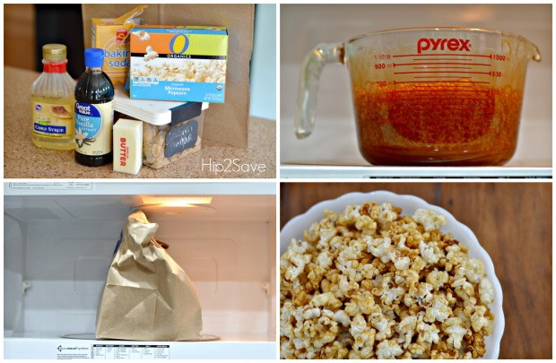 How to make easy caramel corn in the microwave