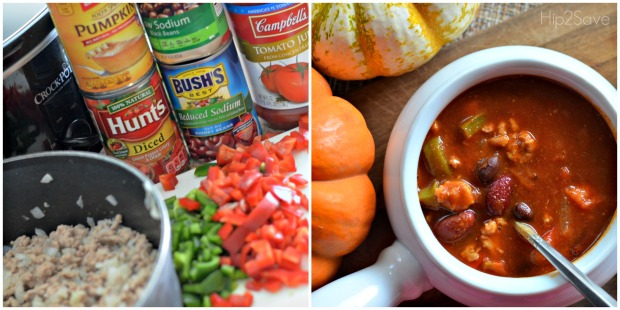 How to make pumpkin turkey chili in the slow cooker hip2save.com