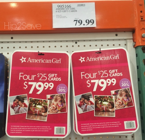 American Girl Gift Card discounts