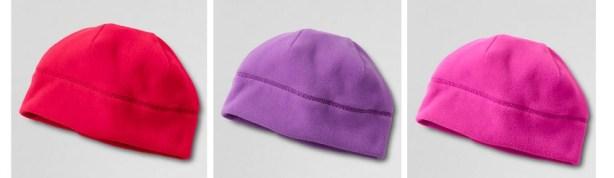 Land's End Girls Solid 100 Fleece Hat