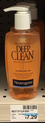 Neutrogena Deep Clean Facial Cleanser CVS