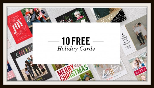 Tiny Prints 10 Free Holiday Cards Just Pay 3 95 Shipping