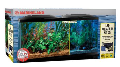 Petsmart Com 55 Gallon Led Aquarium Kit Only 67 49 Reg