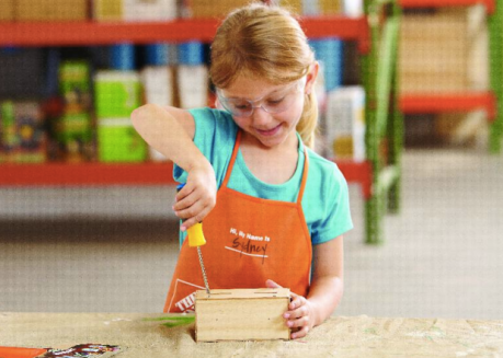 Home Depot Kids Workshop Free School House Bank