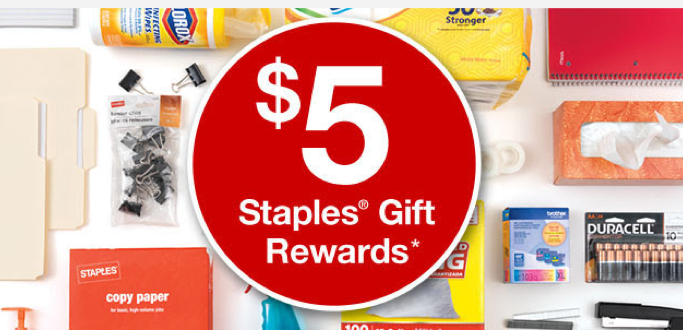 staples rewards members  possible free  5 gift reward  check your inbox