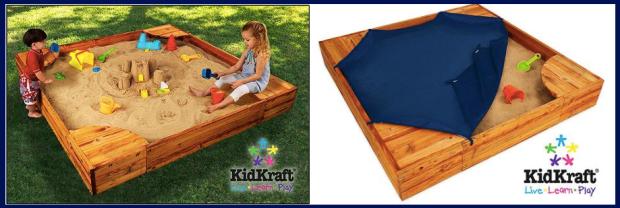 Kidkraft Backyard Sandbox amazon & walmart: kidkraft backyard sandbox only $129 shipped