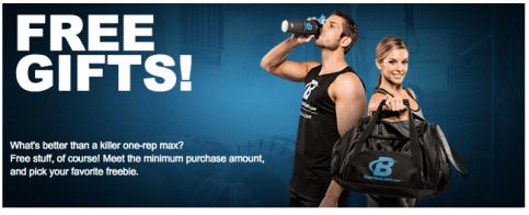 BodyBuilding.com Free Gift offer