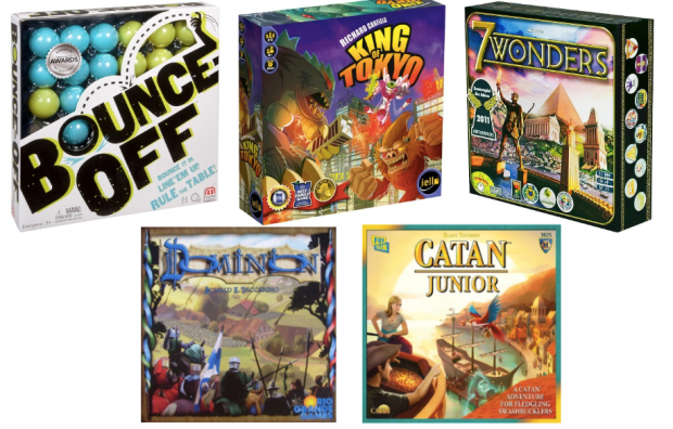 HUGE Board Game Sale: Ticket to Ride, 7 Wonders, Bounce Off, Catan Junior & More