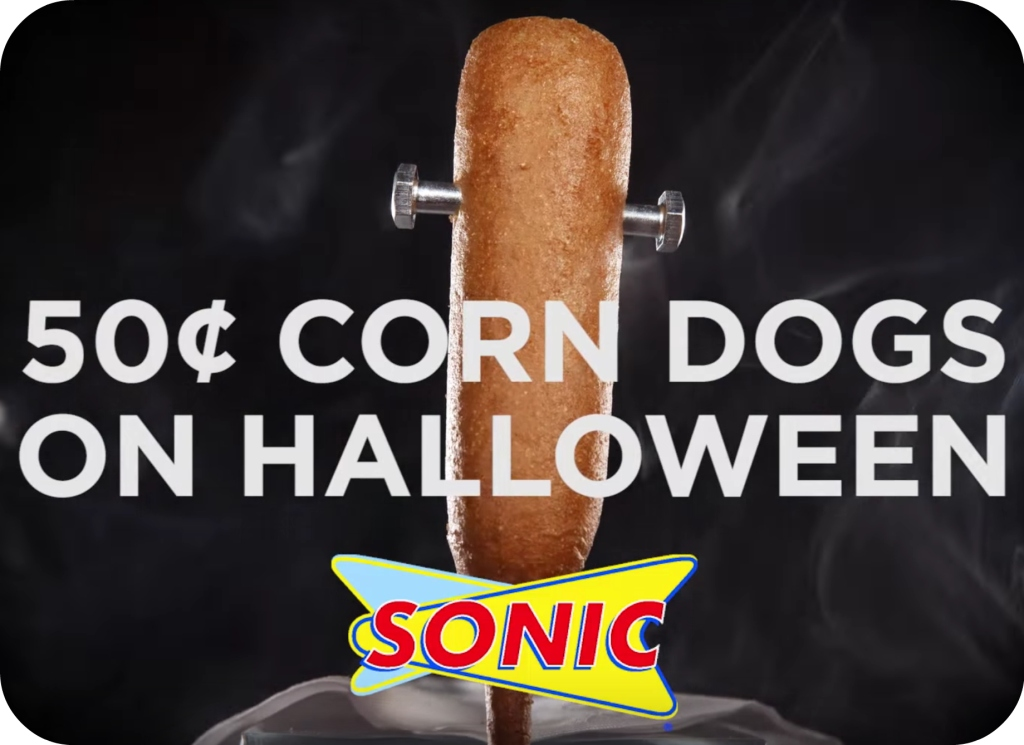 Sonic Corn Dogs on Halloween