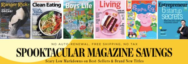 Weekend Magazine Sale: Ranger Rick, Boys' Life, Clean Eating, Peppa Pig, Family Handyman & More