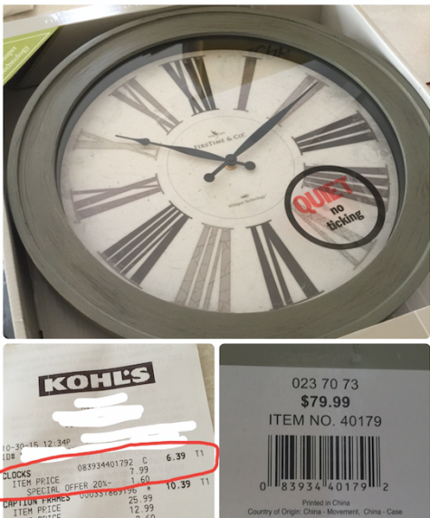 Clock Clearance at Kohl's