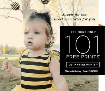 Shutterfly 101 FREE 4×6 photo prints