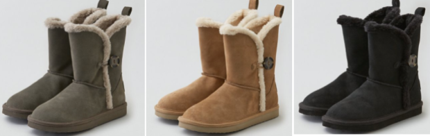 AEO Buttoned Cozy Boots