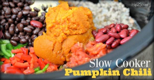 Slow Cooker Pumpkin Turkey Chili Hip2Save