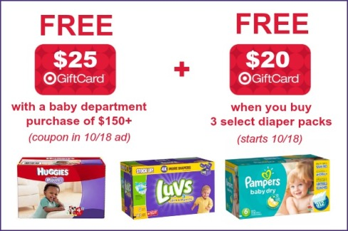 c353f53dd Target  FREE  25 Target Gift Card With  150+ Baby Purchase (Starting ...