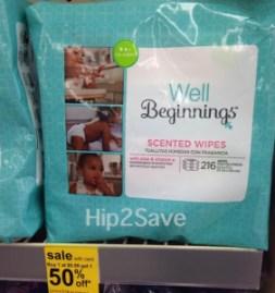 Well Beginnings wipes 216